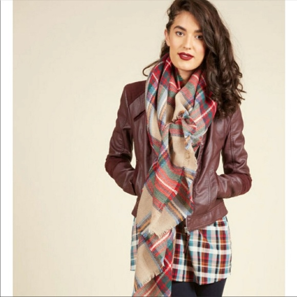 229831d6ebcf3 Modcloth Accessories | Plaid Blanket Scarf | Poshmark